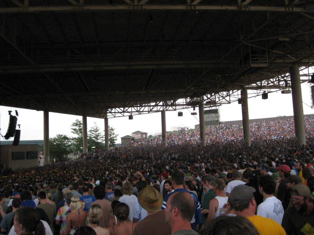 Fans at Deer Creek Music Center in Noblesville, Indiana enjoying a Phish concert in June 2009. Photo by Joel Freimark.