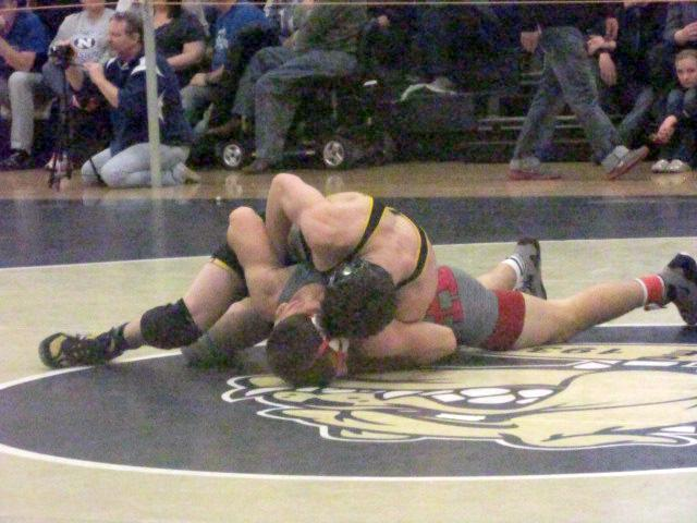 Sammy Gross at the District Tournament on Feb. 22. Photo by Marc Silver.