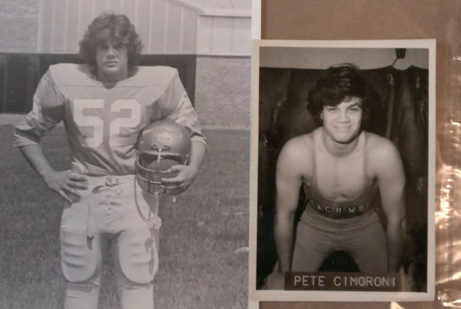 C. Peter Cimoroni was a 1975 Beachwood graduate and varsity wrestler, pictured in the 1975 BHS yearbook
