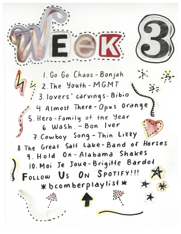 week 3 playlist