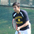 Senior Kaustav Malik, along with junior Barak Spector and seniors Alex Machtay and Griffin Celleghin, will compete this weekend in the state tennis tournament. Photo by Bradford Douglas.