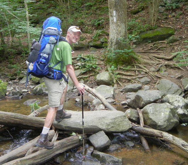 Burwell in June on the Appalachian Trail in northern Va. Photo courtesy of Joe Burwell.