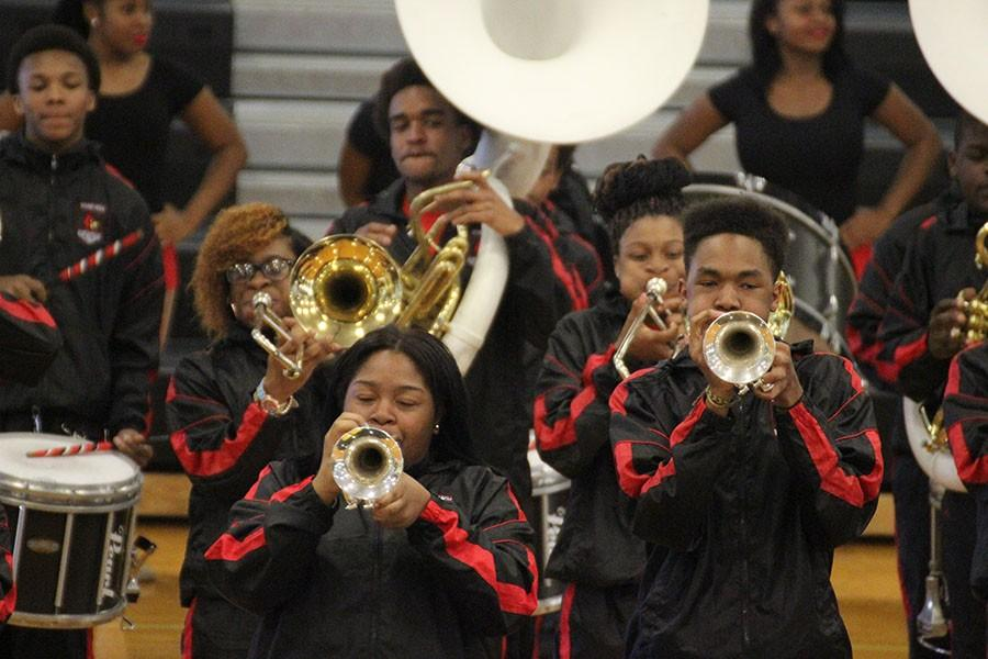 East Cleveland's Shaw High School band  blew the crowd away with an impressive, HBCU-style performance featuring spirited drums and dancing. Photo by Bradford Douglas.