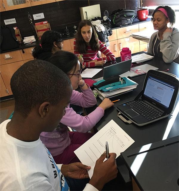 Science Olympiad students take practice tests to prepare for competition. Image courtesy of Beachwood Science Olympiad.