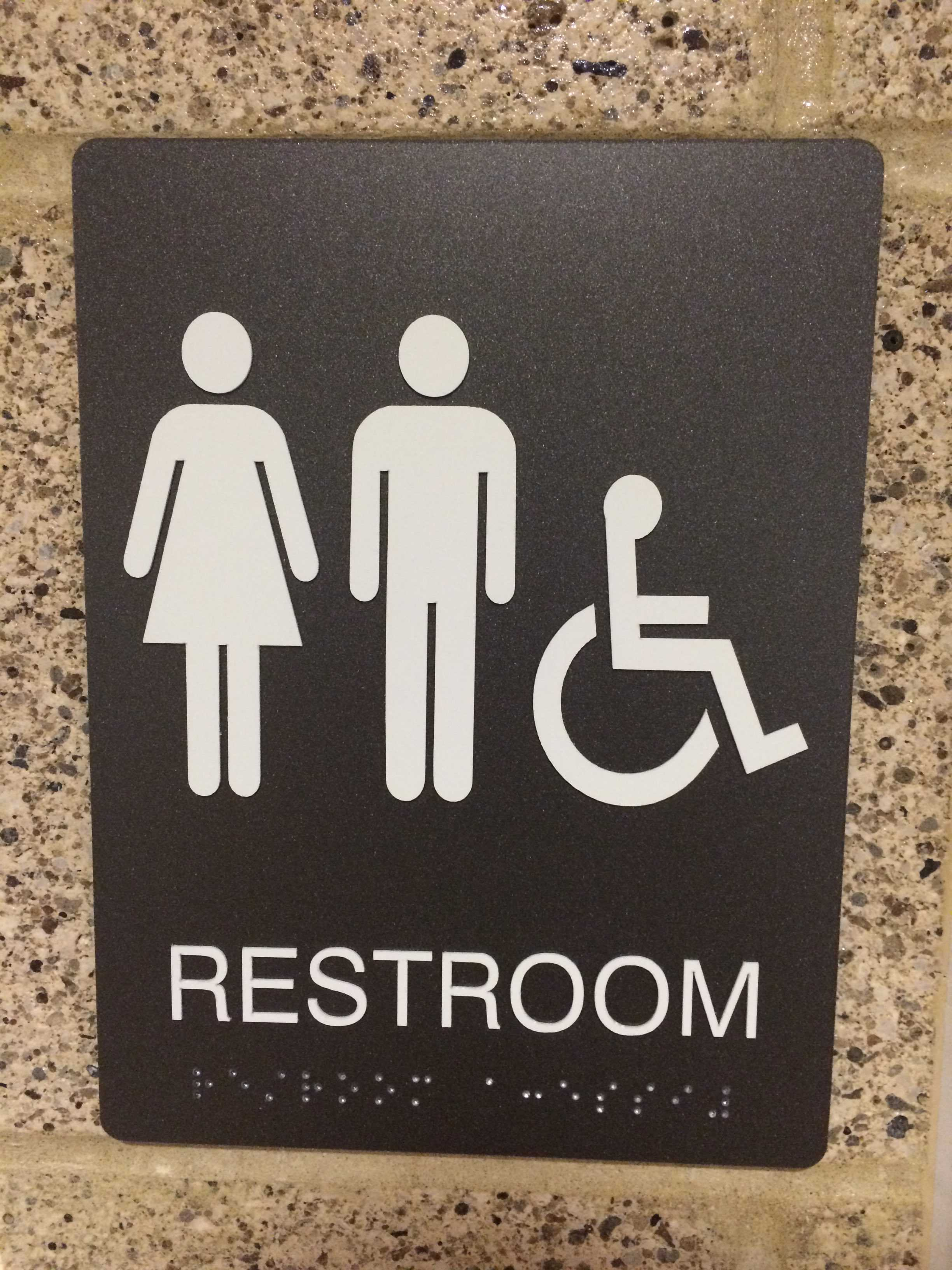 """""""Starting this year, we are [also] establishing the two, single-stall bathrooms at the corner of the English hall as unisex bathrooms."""" Dr. Hardis said. Photo by Alex Cala."""