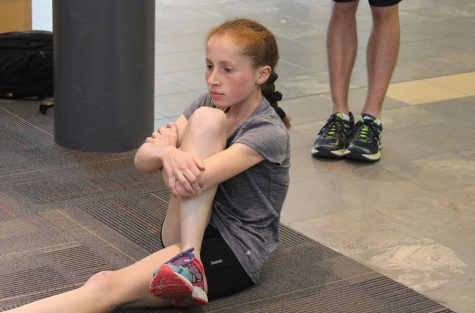 Leah Roter prepares for a workout. Photo by Gabriela Colovan Costa.