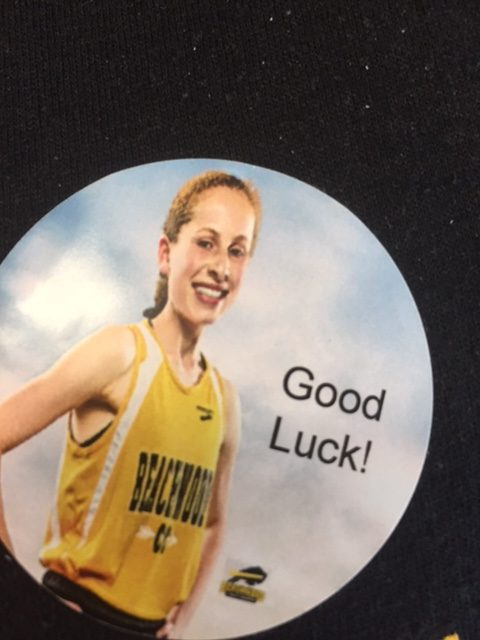 BHS+students+and+staff+are+wearing+stickers+today+to+honor+Roter%27s+accomplishments+and+wish+her+luck+at+the+state+meet.