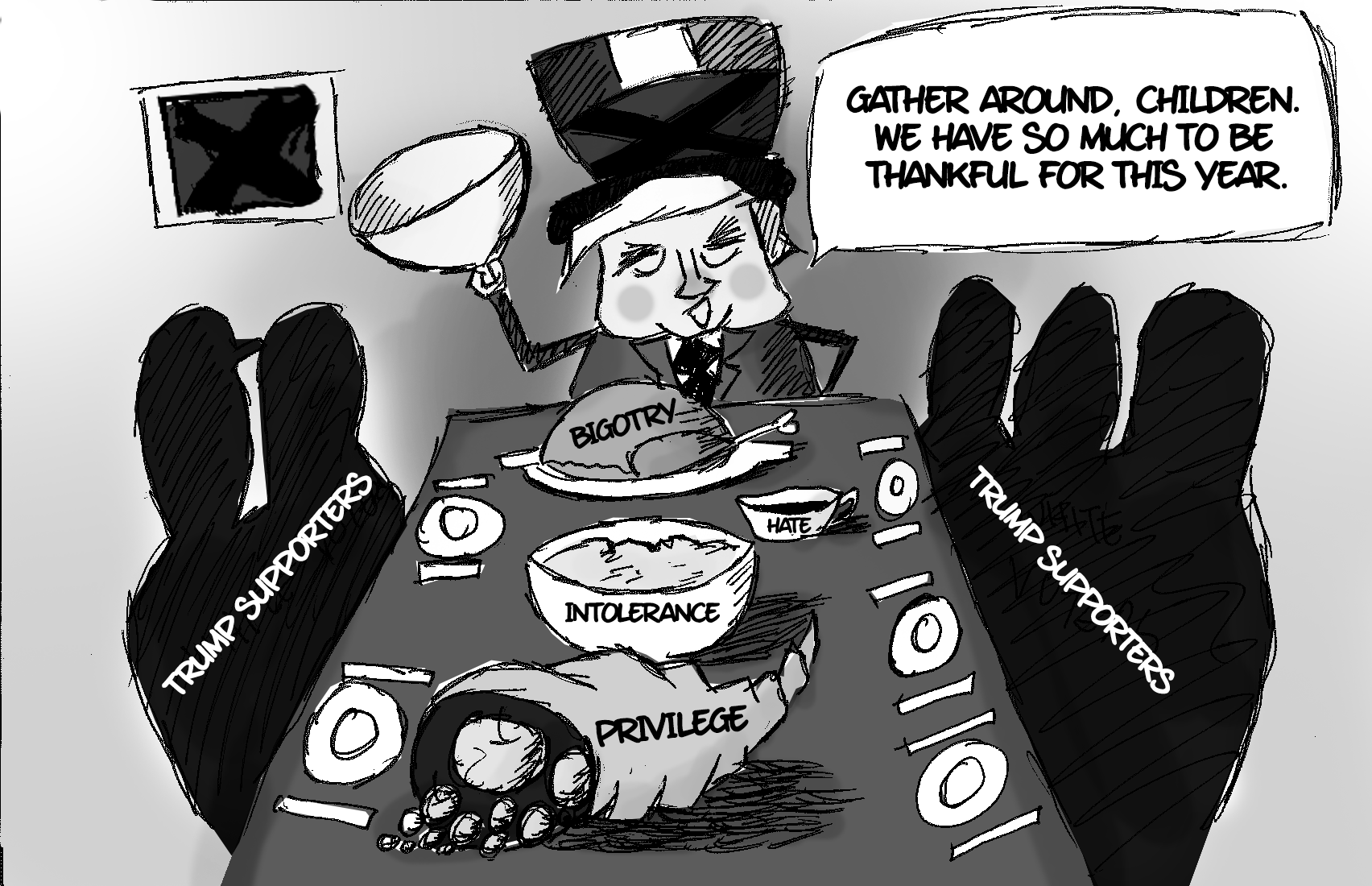 Cartoon by Jinle Zhu
