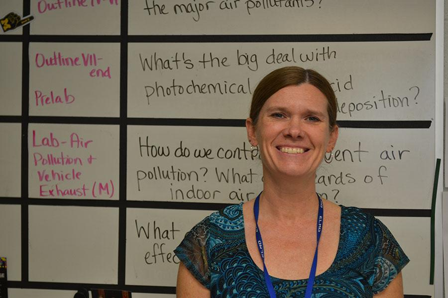 Science teacher Lisa Bugenske described a lack of female peers and role models in her time as an engineering student at University of Michigan and during her career at General Electric. Photo by Gabriela Colovan Costa.