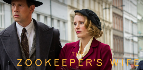 Johan Heldenbergh and Jessica Chastain star as Jan and Antonina Zabinski. Image source: http://www.focusfeatures.com /thezookeeperswife/