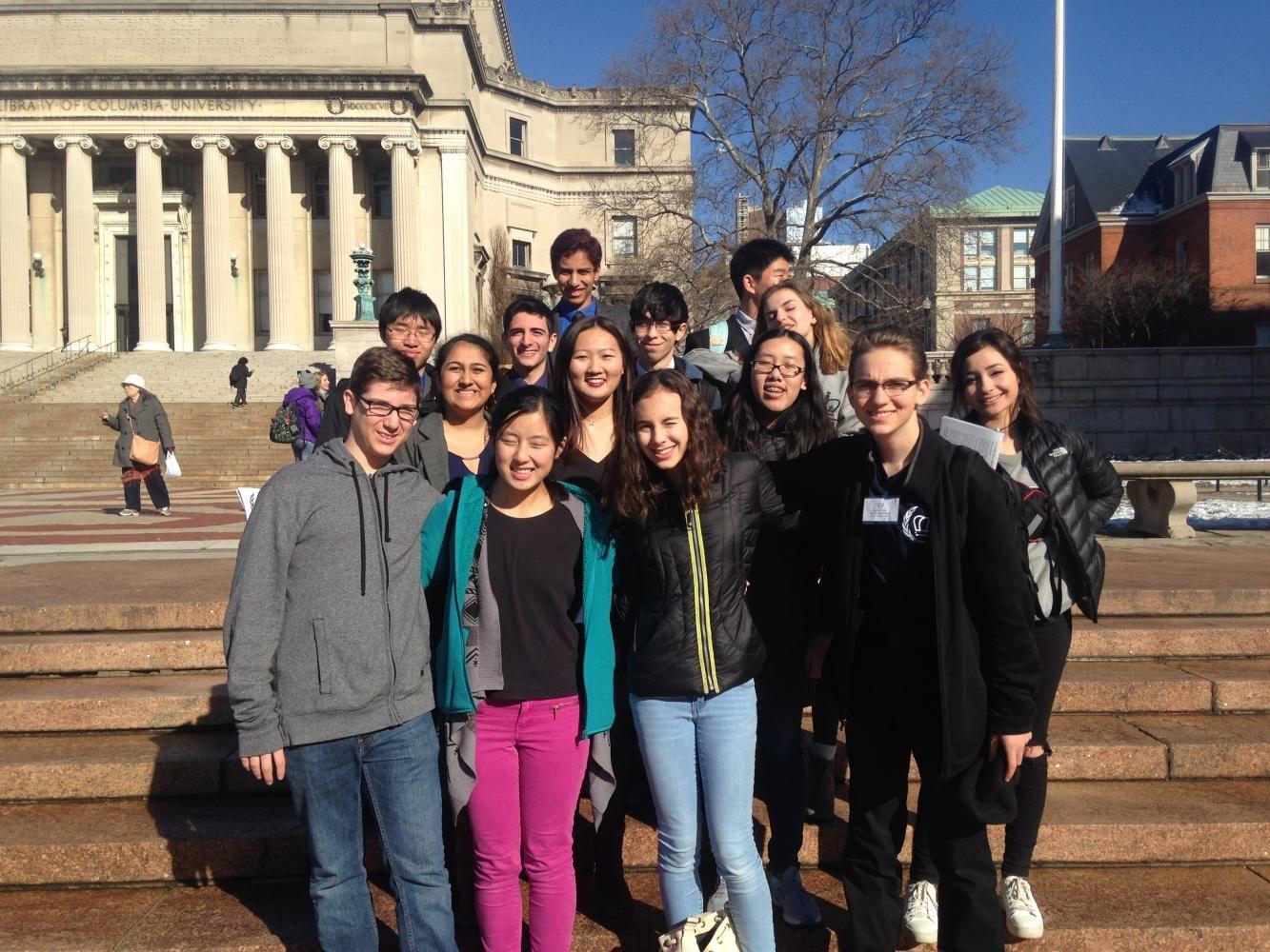 The Model UN club at Columbia University in January. Photo courtesy of Sara Bargiel