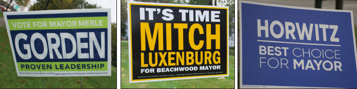 Beachwood voters will choose between the incumbent Mayor, School Board President or City Council President. Photos by Nakita Reidenbach and Amelia Port