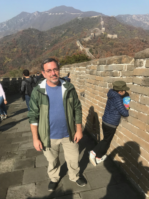 Gugick at the Great Wall of China.