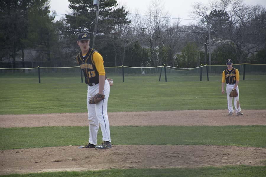 Pitcher Chris Riley has been a strong leader on the baseball team this year. Photo by Joe Spero