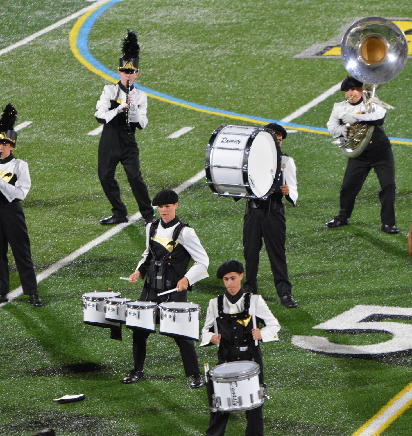 The band performs at the West Geauga game. Photo by Nakita Reidenbach