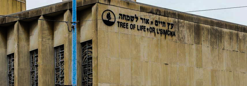 The Tree of Life Synagogue in Squirrel Hill, Pittsburgh. Image by CTO Henry via Wikimedia Commons