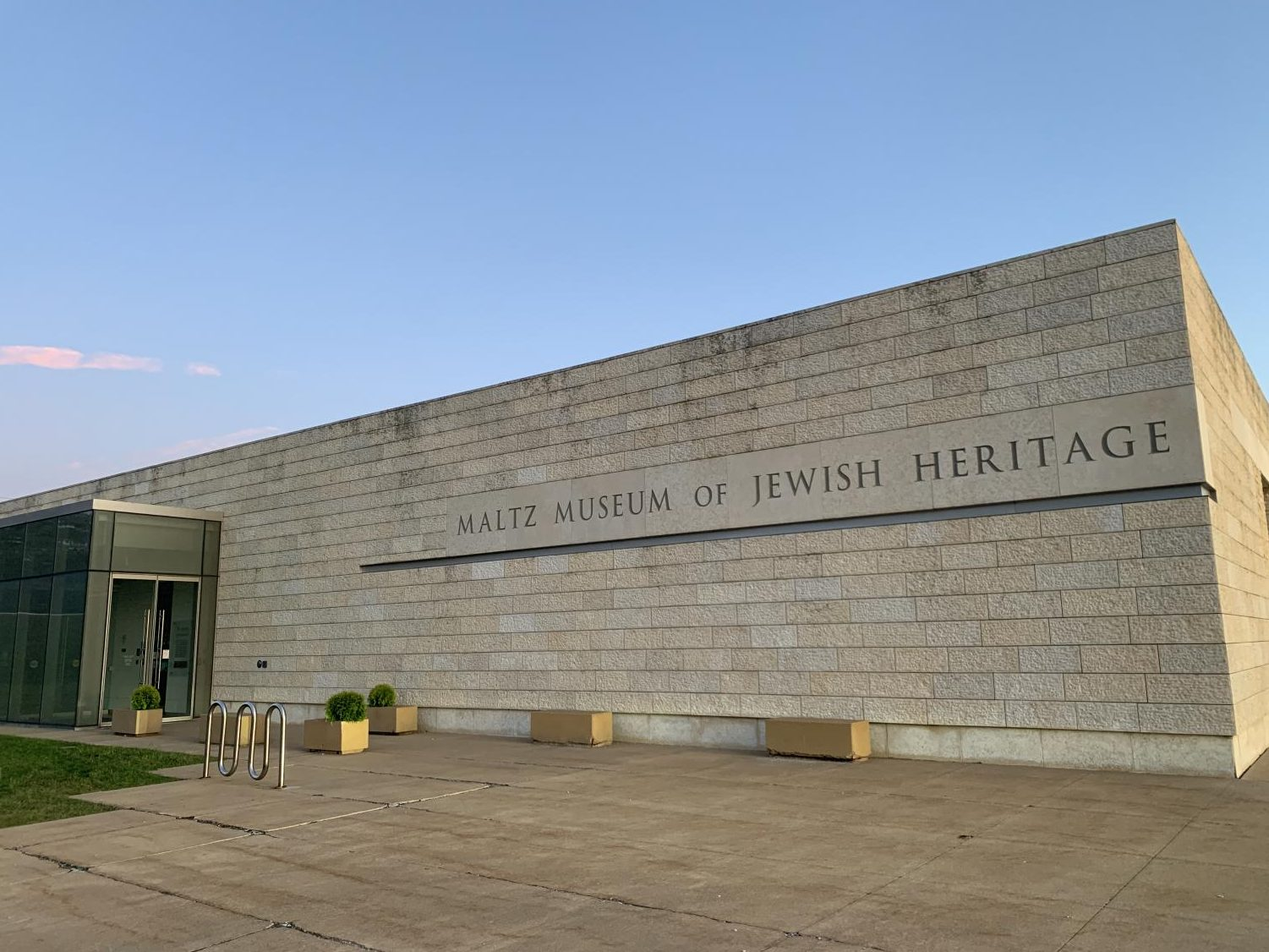 An anti-Semitic flyer was posted on the sign in front of the Maltz Museum of Jewish Heritage in July.