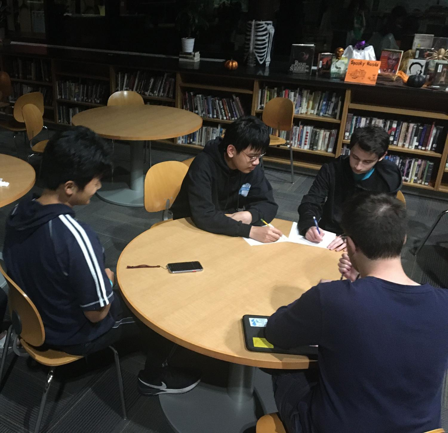 Debaters meet on Thursday evenings to prepare and practice arguments.