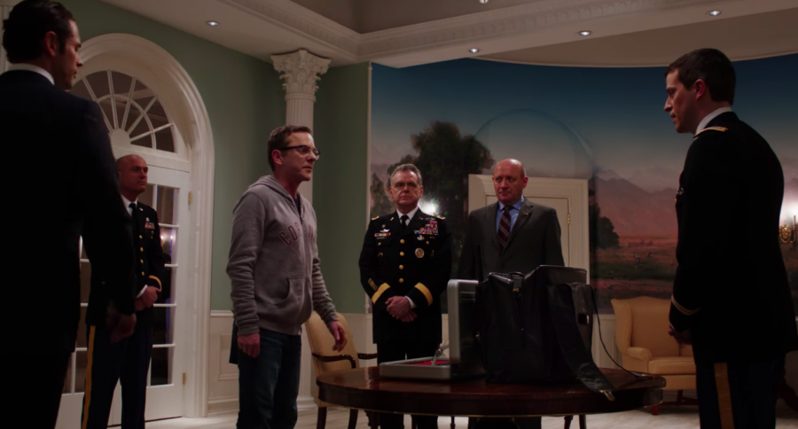 Accidental President Tom Kirkman (Kiefer Sutherland) receives the nuclear codes in season 1, episode 1 of