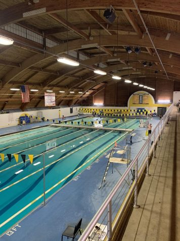 The BHS natatorium, where swimmers have faced high heat, humidity, and other maintenance issues.