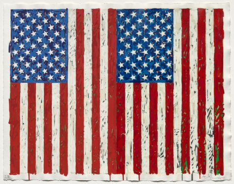 """Until recently, we were split between left and right, but now we have become divided along finer ideological divisions within each party."" Image: ""Flags 1"" by Jasper Johns. Open access, Cleveland Museum of Art."