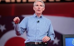 U.S. Senator Rob Portman speaking in Columbus in 2015.