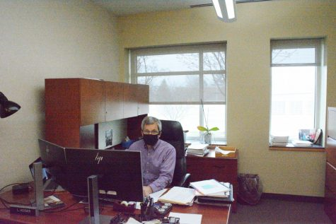 City of Beachwood Finance Director Larry Heiser in his office at City Hall