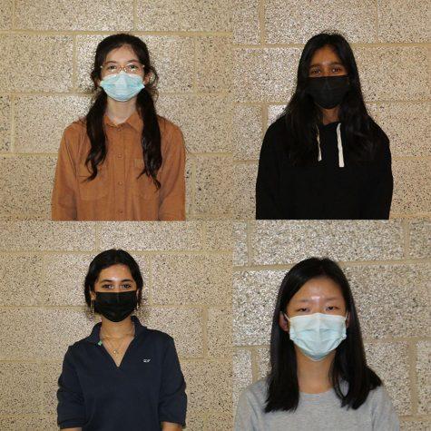 From top left: freshman Anah Khan,   senior Abby Cherian, senior Ran Duan and junior Kimia Adabi.